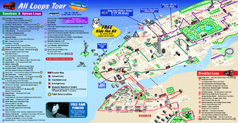 Detailed tourist map of New York city. New York city detailed tourist map.