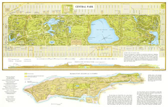 Large detailed map of Central Park, Manhattan, NYC. Central Park, Manhattan, NYC large detailed map.