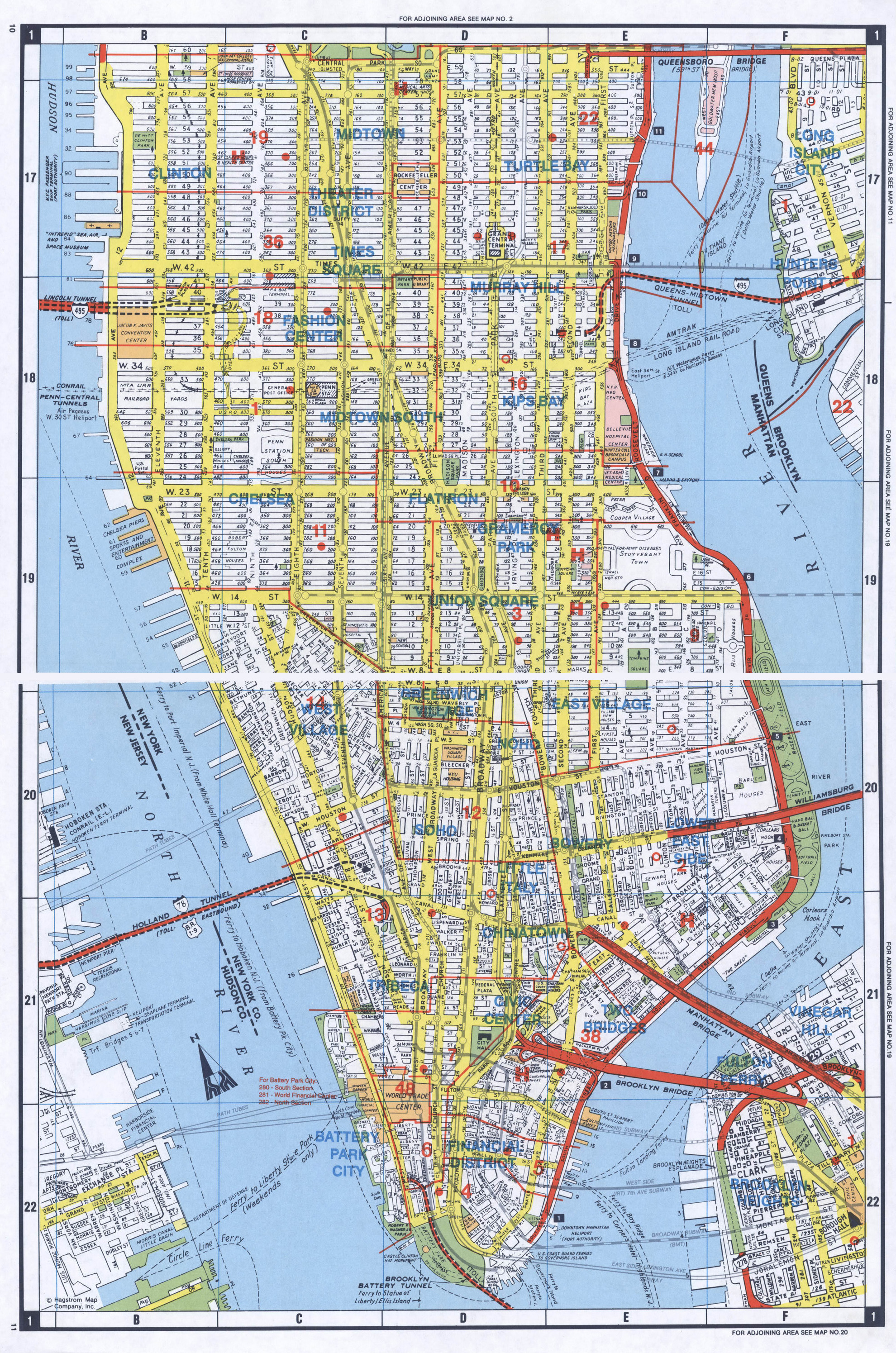 Detailed Map Of New York City.Large Detailed Road Map Of South Manhattan Nyc South Manhattan