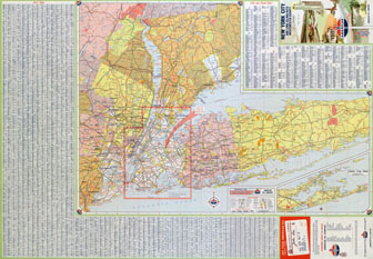 Large detailed roads and highways map of New York city, USA and surrounding areas.