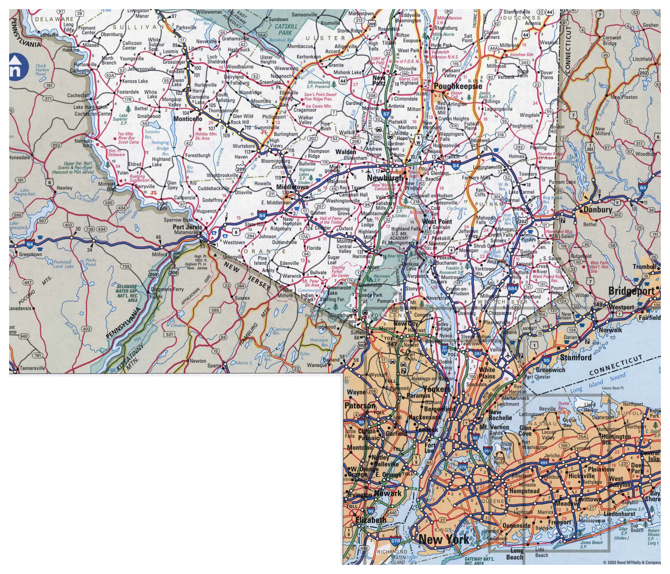 Detailed Map Of New York City.Large Detailed Roads And Highways Map Of New York City And