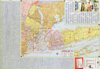 Large scale (HiRes) detailed roads and highways map of New York city and surrounding areas.