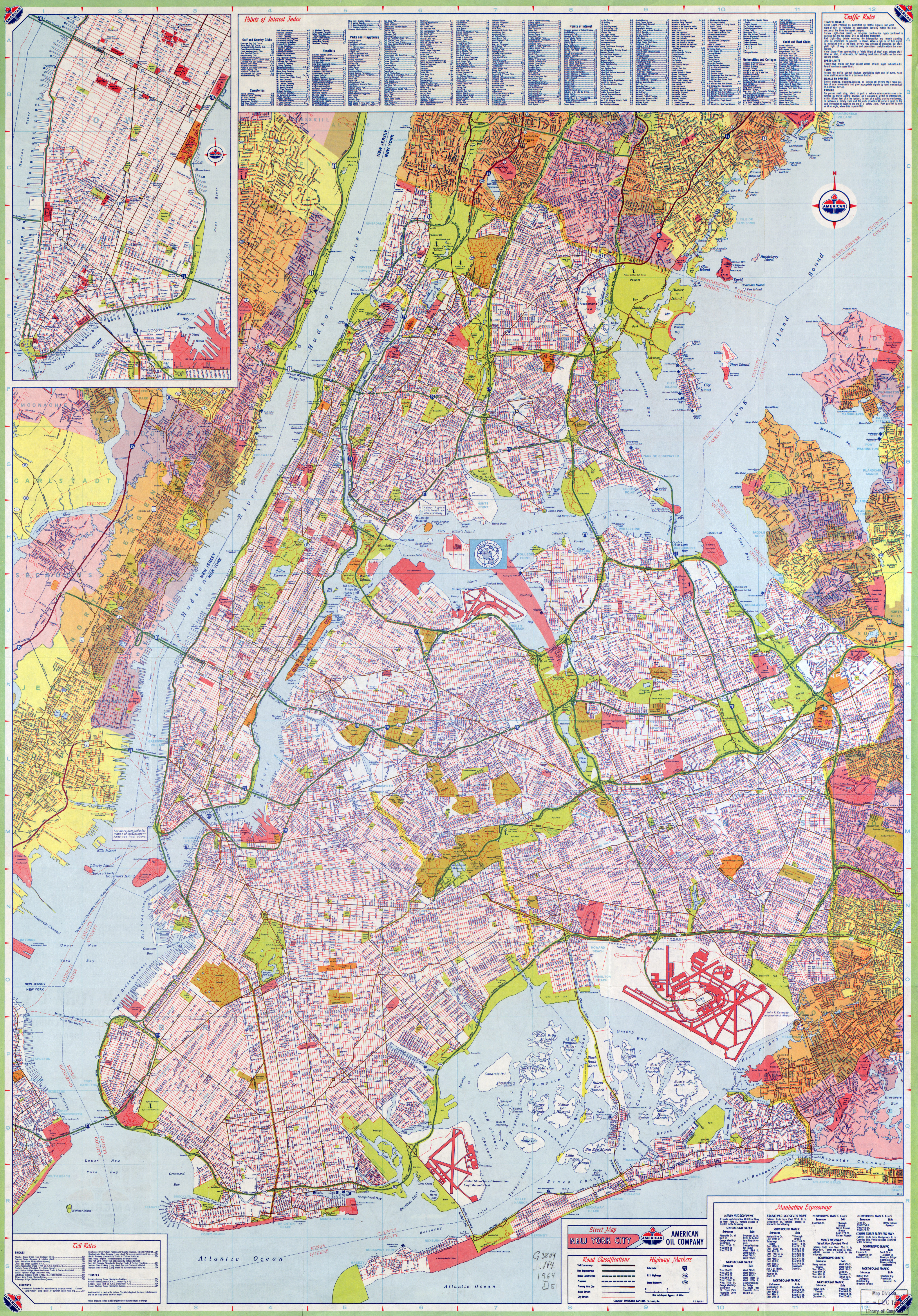 Large Scale Road Map Of New York City With Street Names NYmap - Large us road map poster
