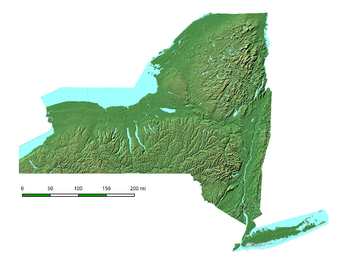 City Map Of New York State.Relief Map Of New York State New York State Relief Map Nymap Net